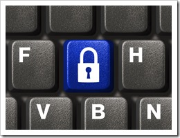 keyboard with blue lock key_thumb
