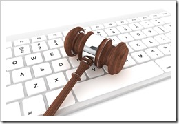 law technology gavel on keyboard_3
